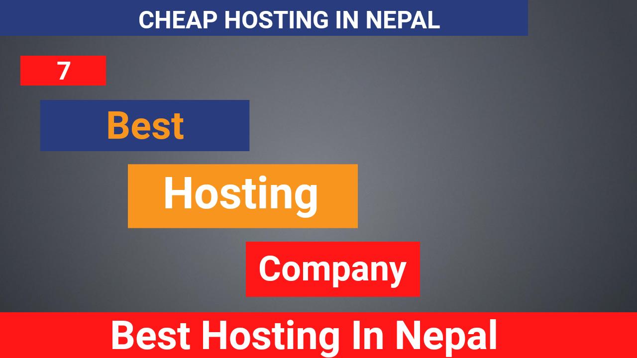 7 Best Hosting in nepal